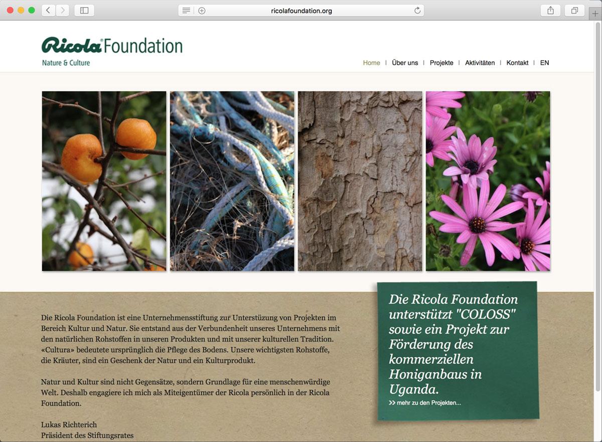 screenshot website ricola foundation