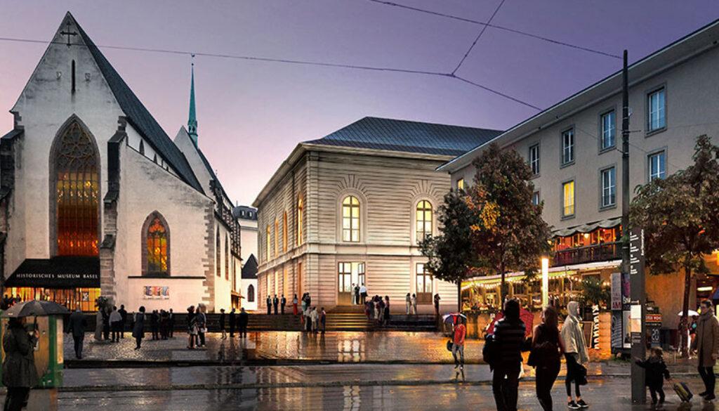 Rendering Erweiterungsprojekt Stadtcasino Basel