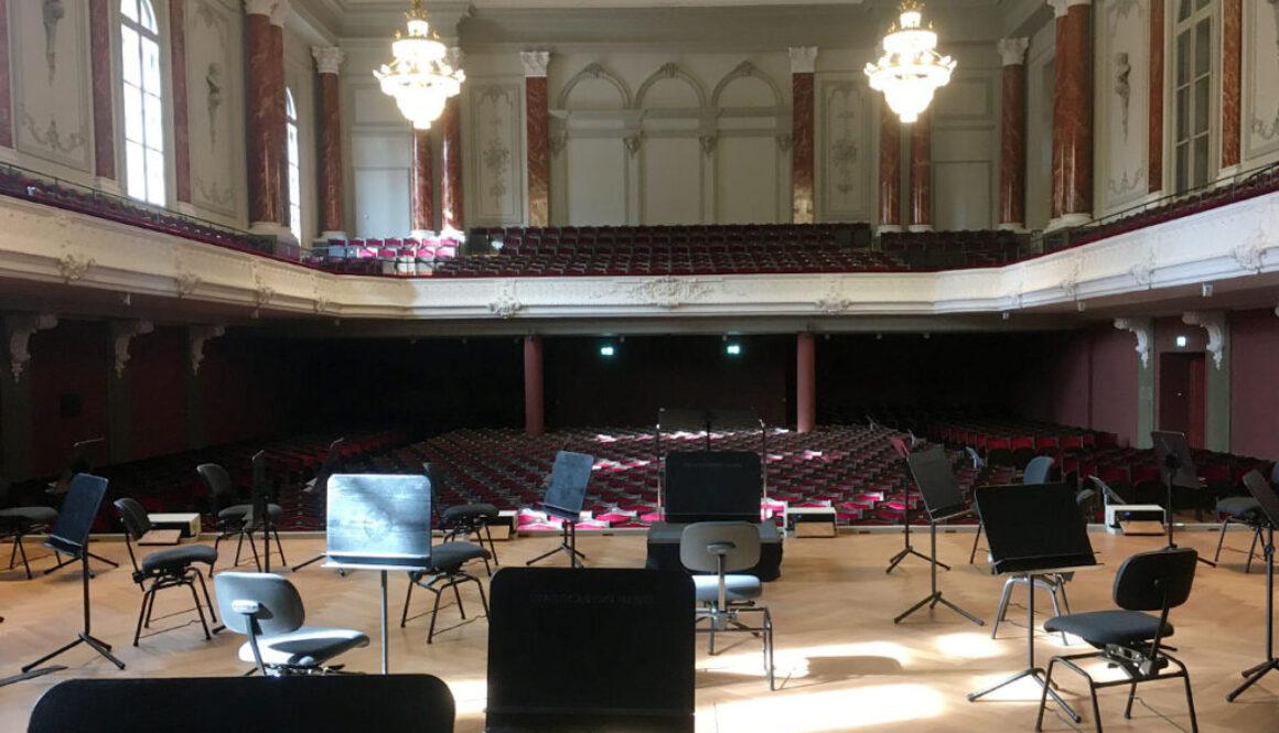 Führung Stadtcasino Basel Musiksaal Bühne